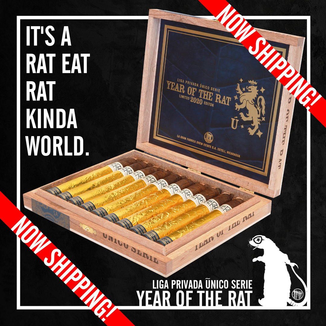 Drew Estate Liga Privada Único Serie Year of the Rat now shipping