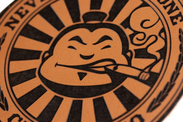 Cigar Dojo Leather Patch closeup