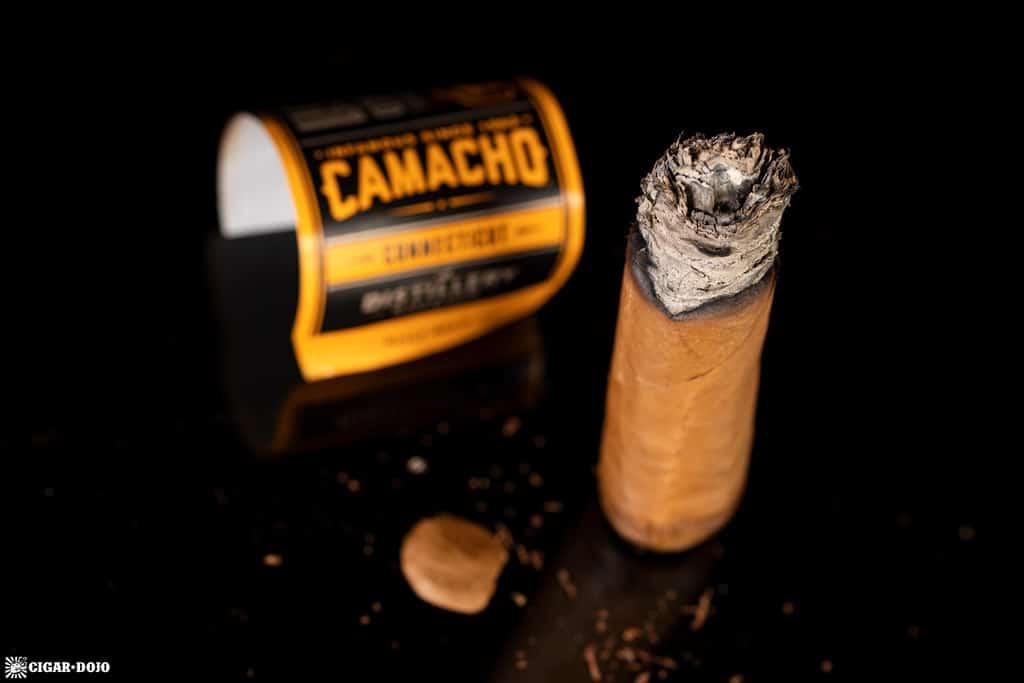 Camacho Connecticut Distillery Edition cigar nub finished