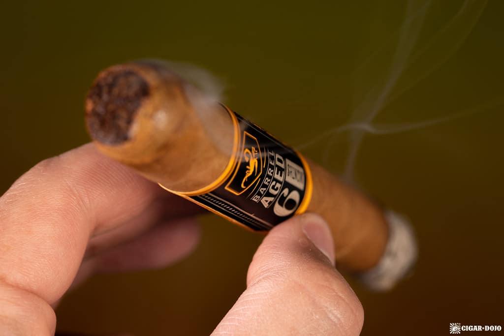 Camacho Connecticut Distillery Edition cigar smoking