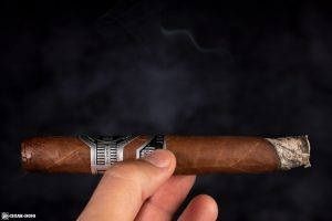 Eiroa Jamastran 11/18 cigar smoking side view