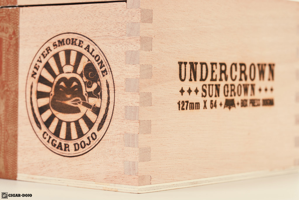 Drew Estate Undercrown Dogma Sun Grown box Cigar Dojo logo