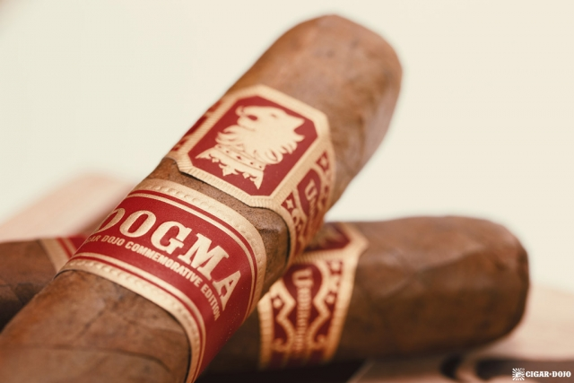 Drew Estate Undercrown Dogma Sun Grown cigars stacked