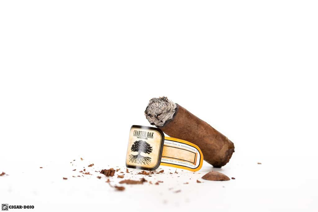Charter Oak Habano Lonsdale cigar nub finished