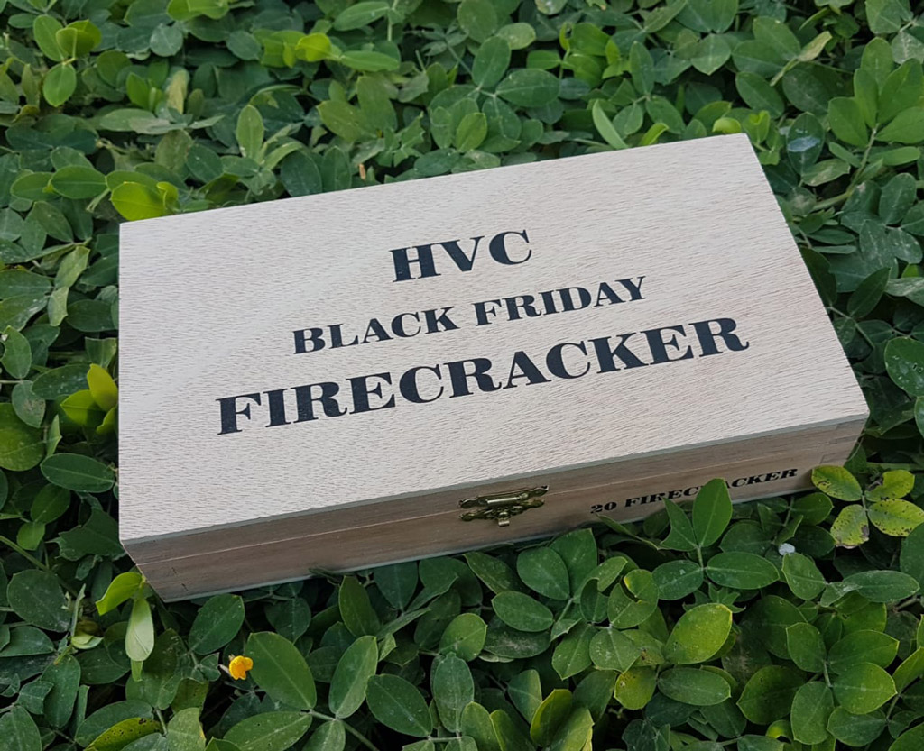 HVC Black Friday Firecracker cigar box