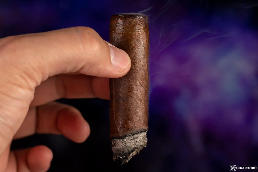 Muestra de Saka Unstolen Valor cigar smoking