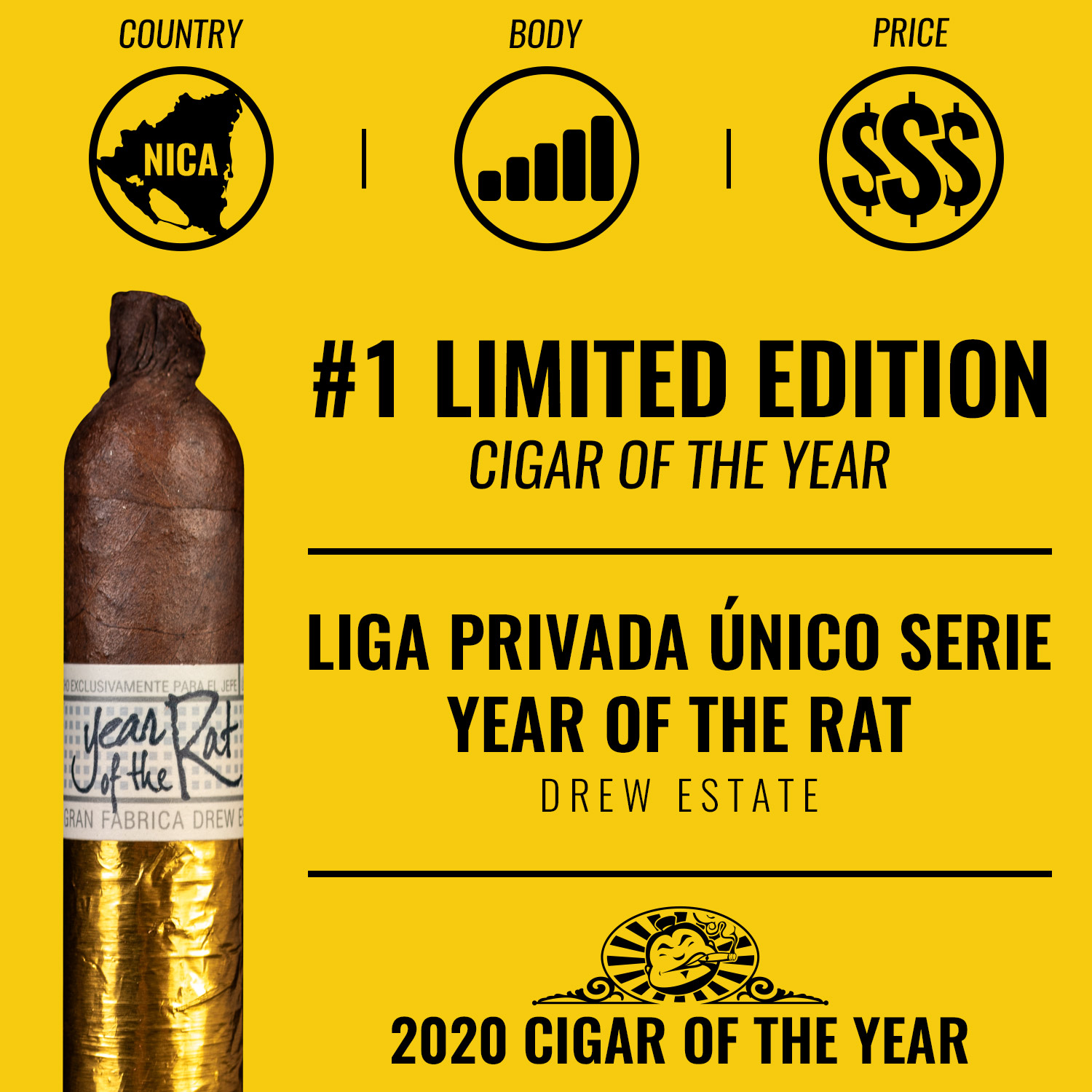 Liga Privada Único Serie Year of the Rat (2020) No. 1 Limited Edition Cigar of the Year 2020