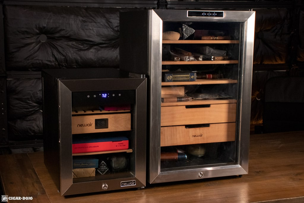 NewAir NCH250SS00 humidor small vs large comparison