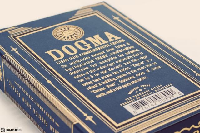 Drew Estate Undercrown Dojo Dogma Maduro 2020 cigar box back