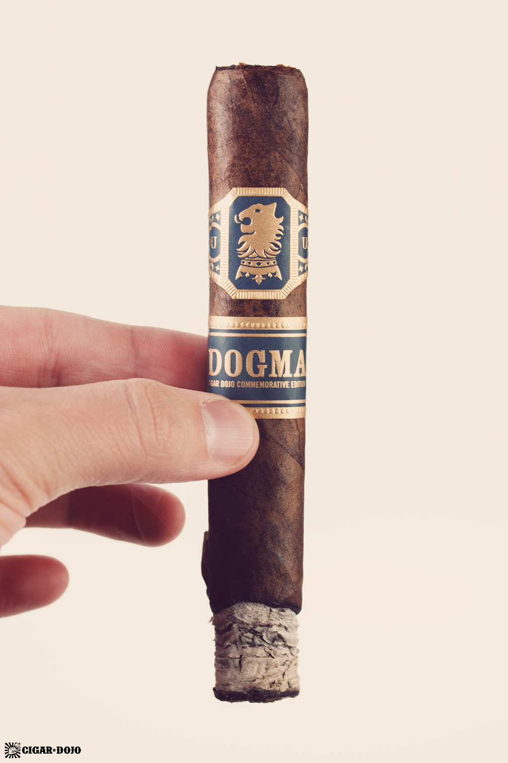 Drew Estate Undercrown Dojo Dogma Maduro 2020 cigar smoking upright