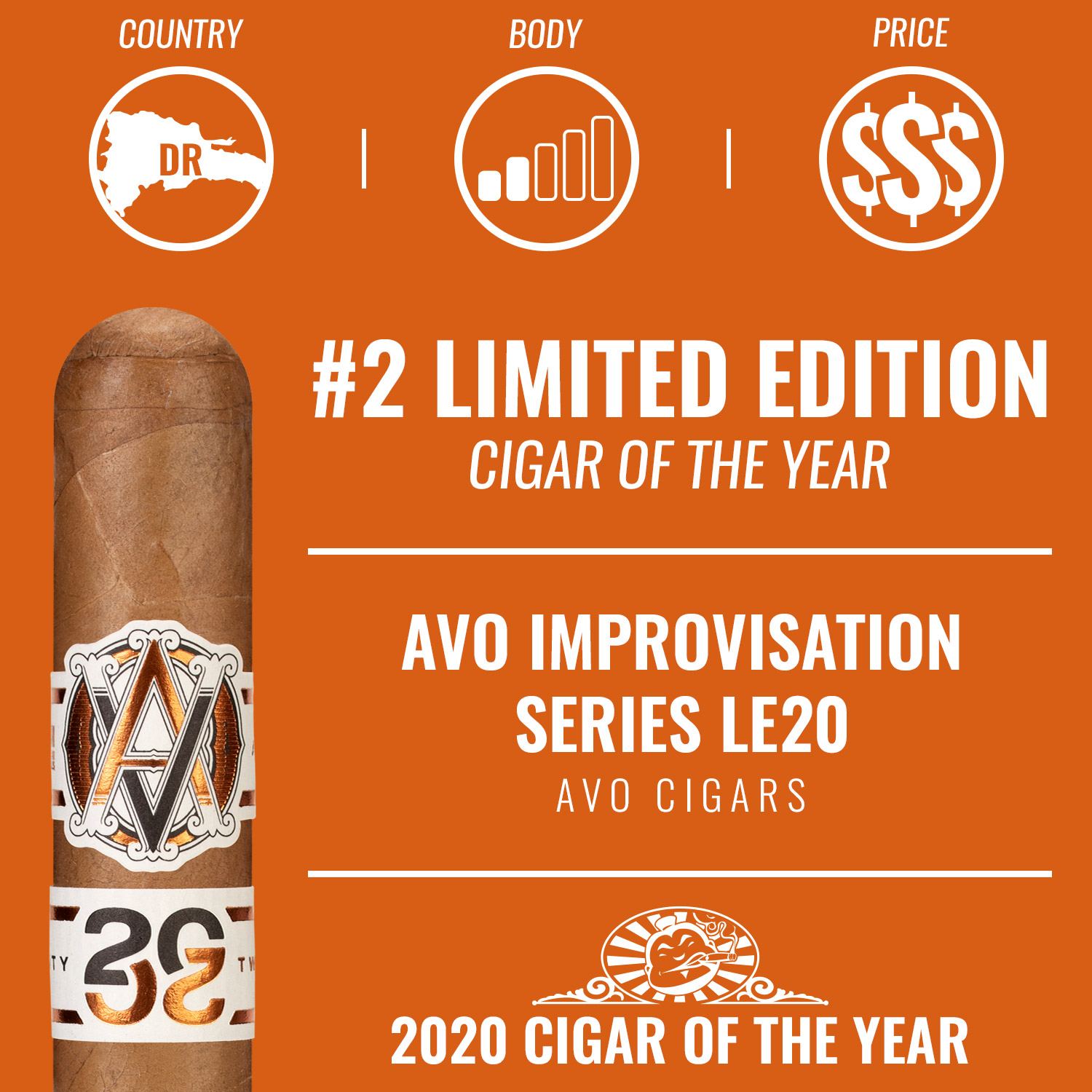 AVO Improvisation Series LE20 No. 2 Limited Edition Cigar of the Year 2020