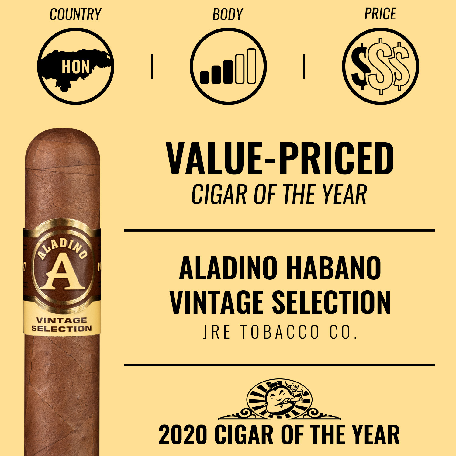 Aladino Habano Vintage Selection Value-Priced Cigar of the Year 2020
