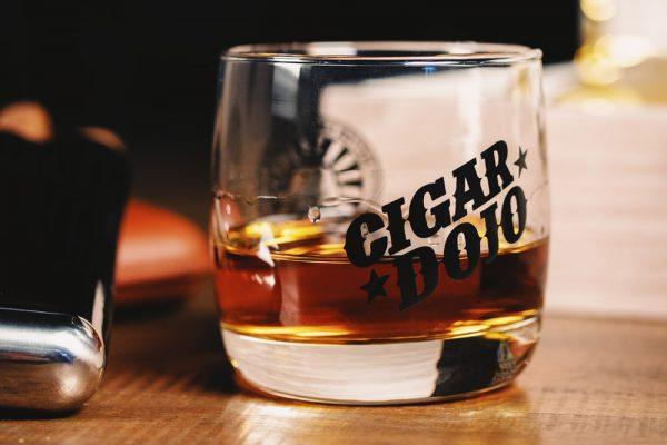 Cigar Dojo Rocks Glass 2021 mood shot front