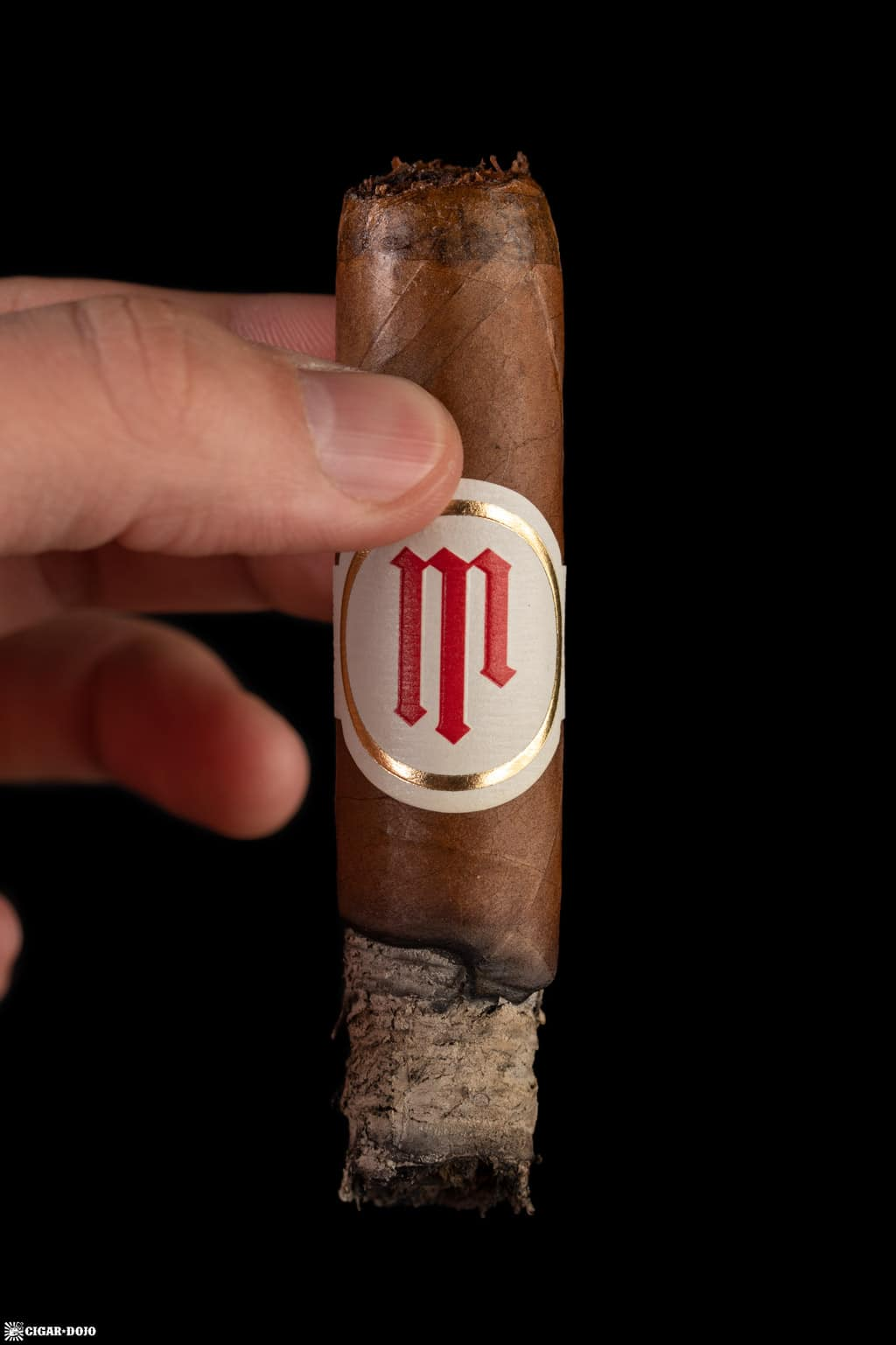 Crowned Heads Mil Días Double Robusto cigar ash