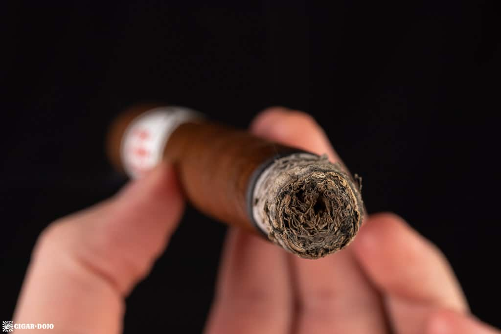 Crowned Heads Mil Días Double Robusto cigar smoking