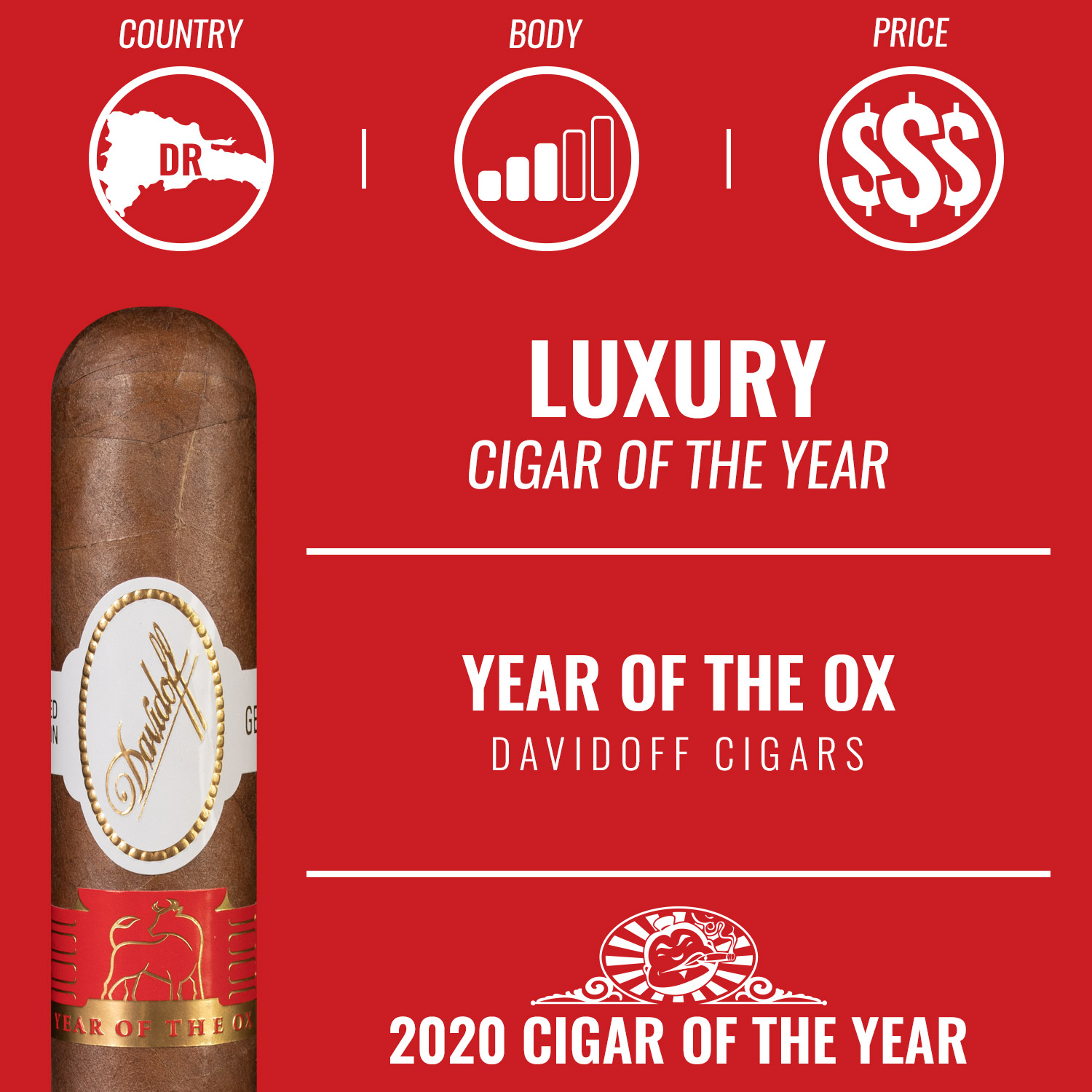 Davidoff Year of the Ox Limited Edition 2021 Luxury Cigar of the Year 2020