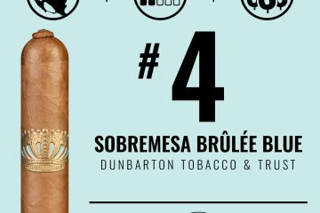 Dunbarton Sobremesa Brûlée Blue No. 4 Cigar of the Year 2020