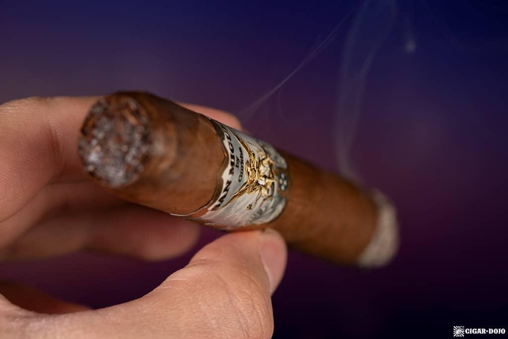 Gurkha San Miguel Toro cigar smoking
