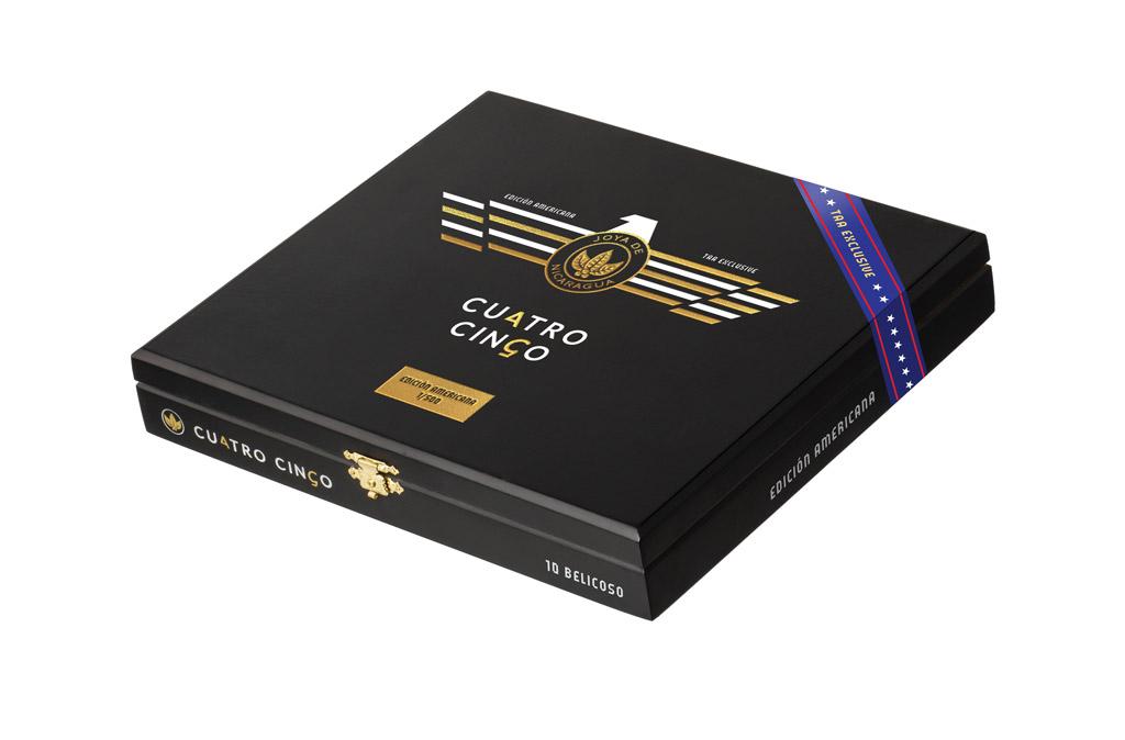 Joya de Nicaragua Cuatro Cinco Edición Americana TAA Exclusive cigar box closed