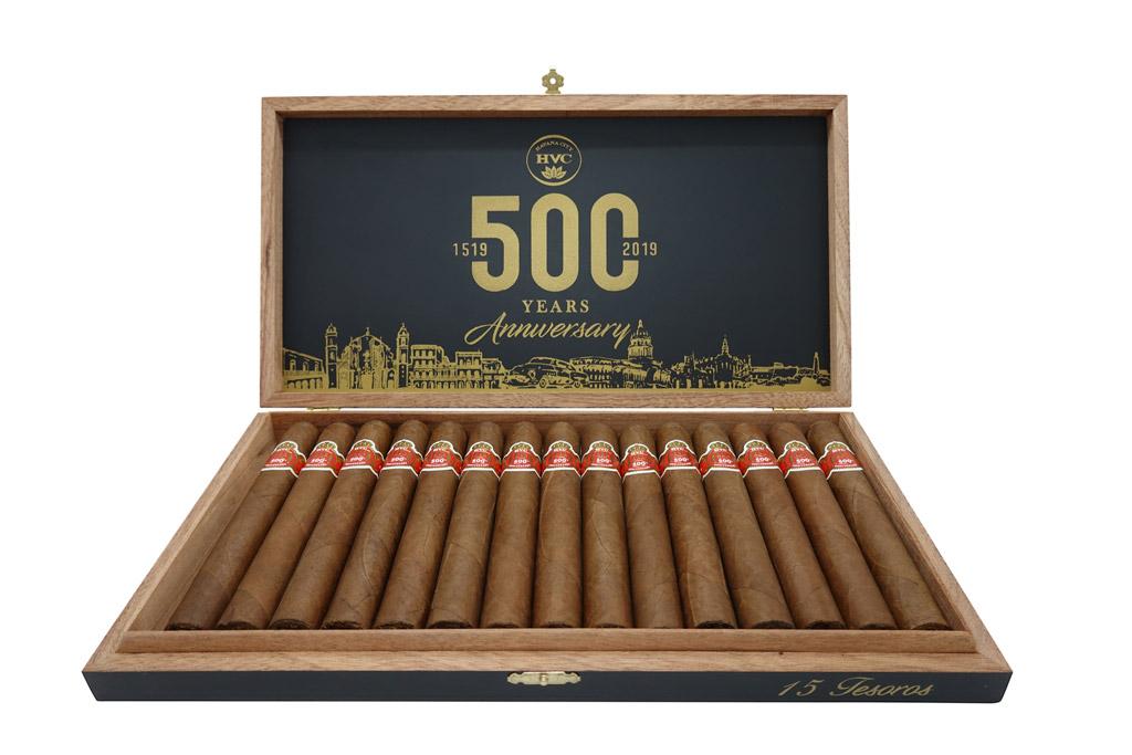 HVC 500 Years Anniversary cigar box open