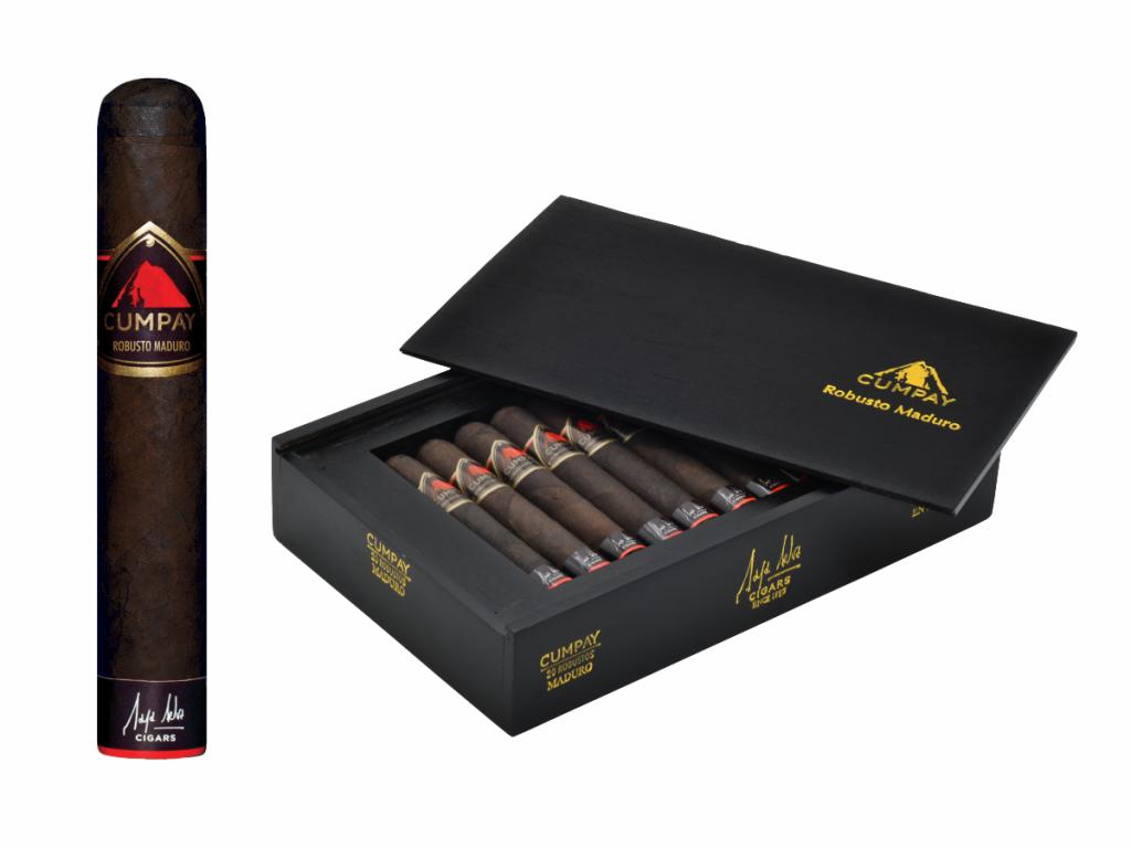 Maya Selva Cumpay Robusto Maduro cigar and box