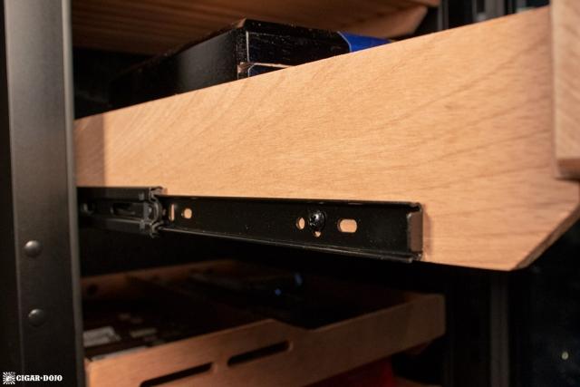 NewAir NCH840BK00 840 Count Humidor ball bearing drawer slide