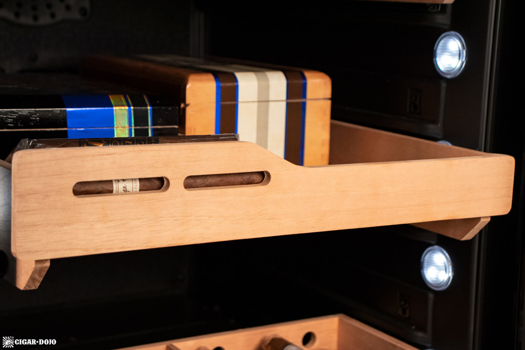 NewAir NCH840BK00 840 Count Humidor shelf with cigar boxes