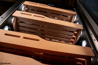 NewAir NCH840BK00 840 Count Humidor cedar shelves underside view