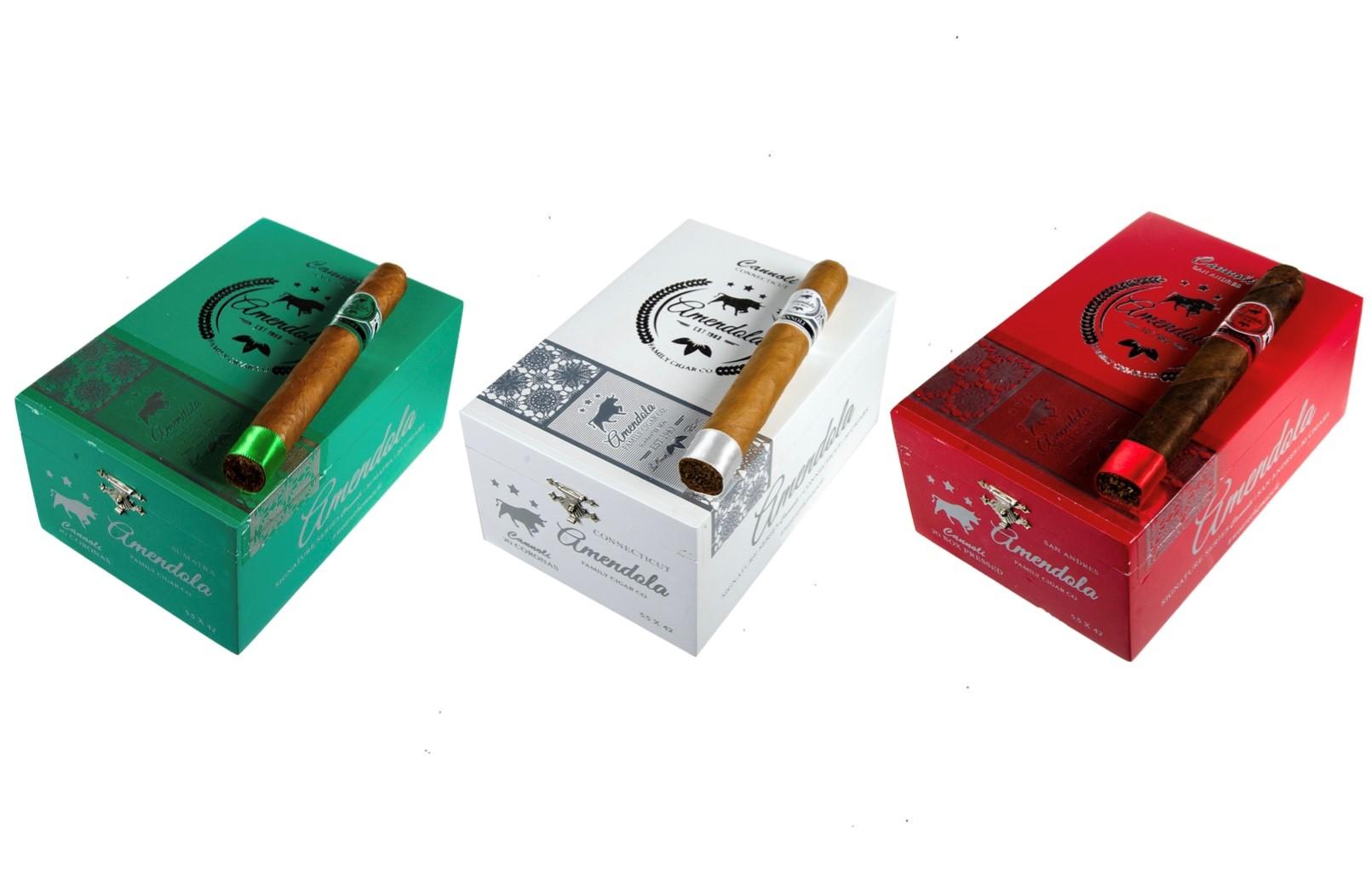 Amendola Family Cigar Co. Cannoli Series cigar boxes