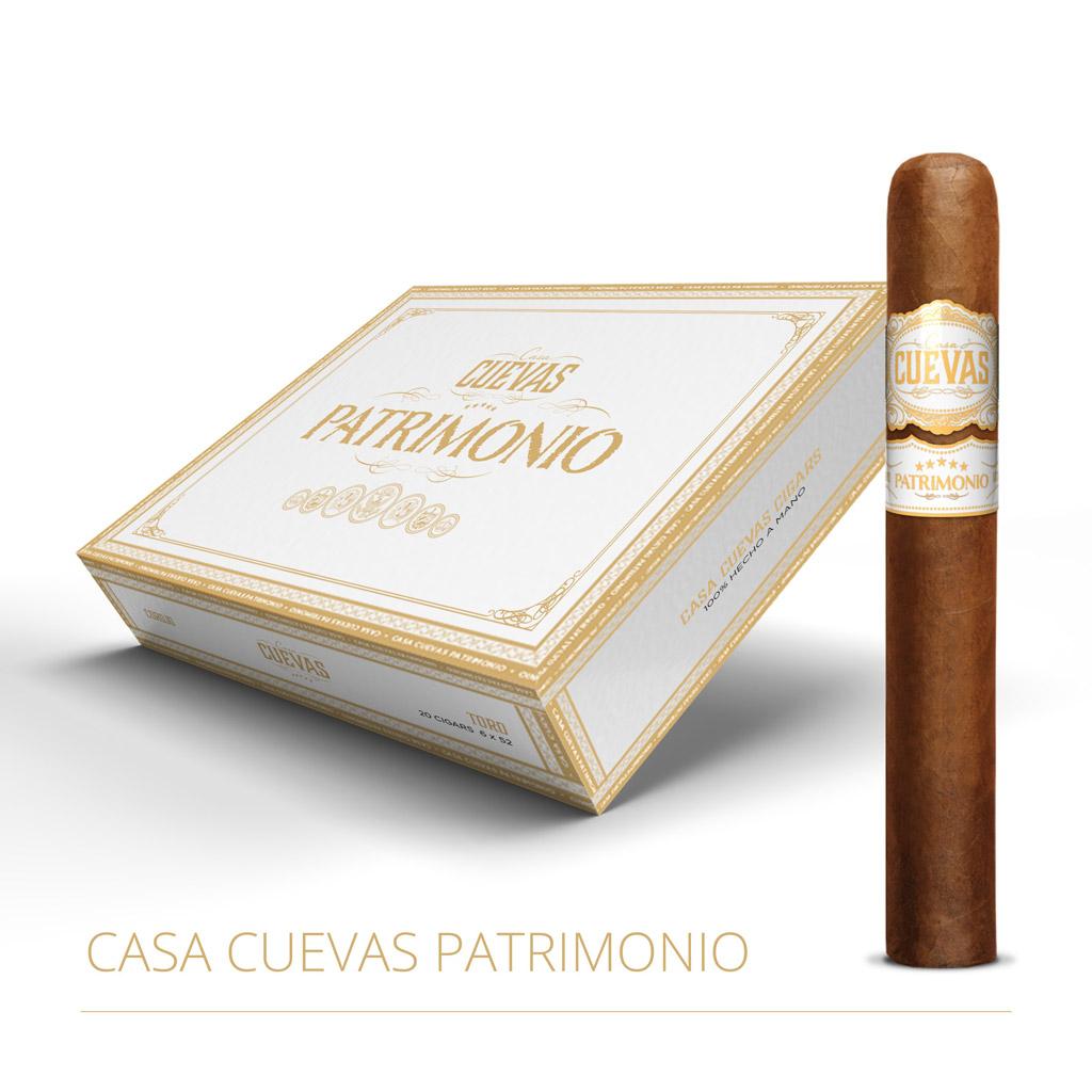 Casa Cuevas Patrimonio cigar box closed