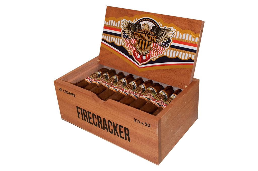 United Firecracker cigar box open