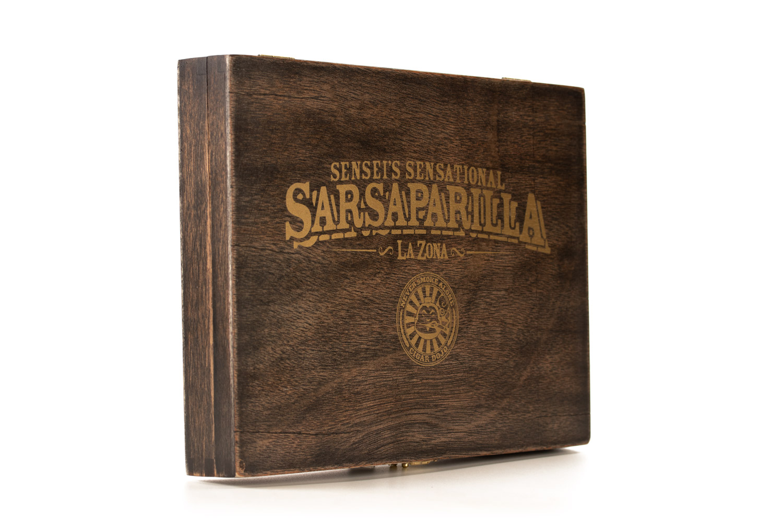 Sensei's Sensational Sarsaparilla cigar box closed