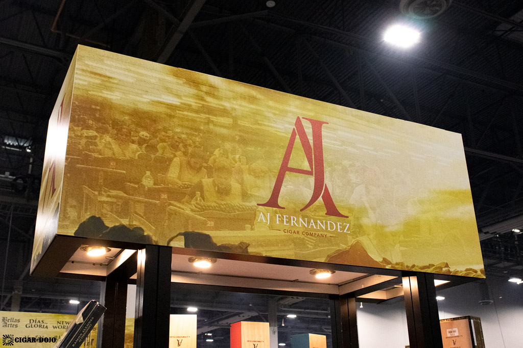 AJF Cigar Company booth sign PCA 2021