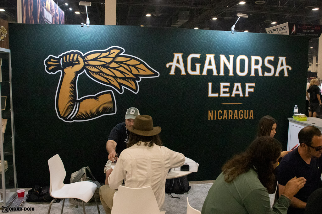 Aganorsa Leaf booth sign PCA 2021