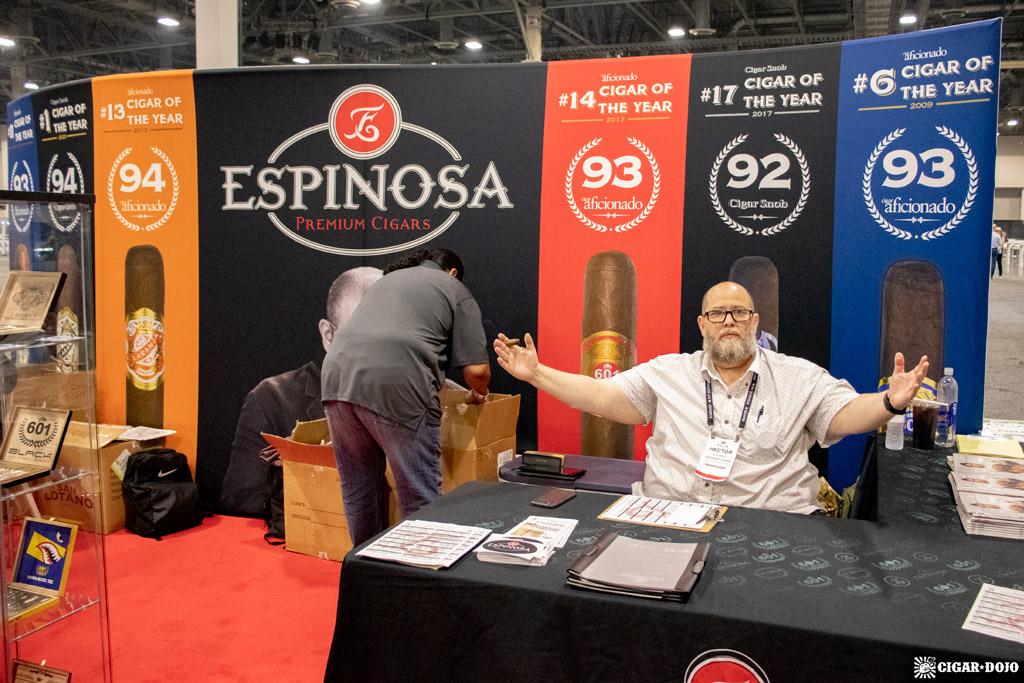 Espinosa Premium Cigars booth PCA 2021