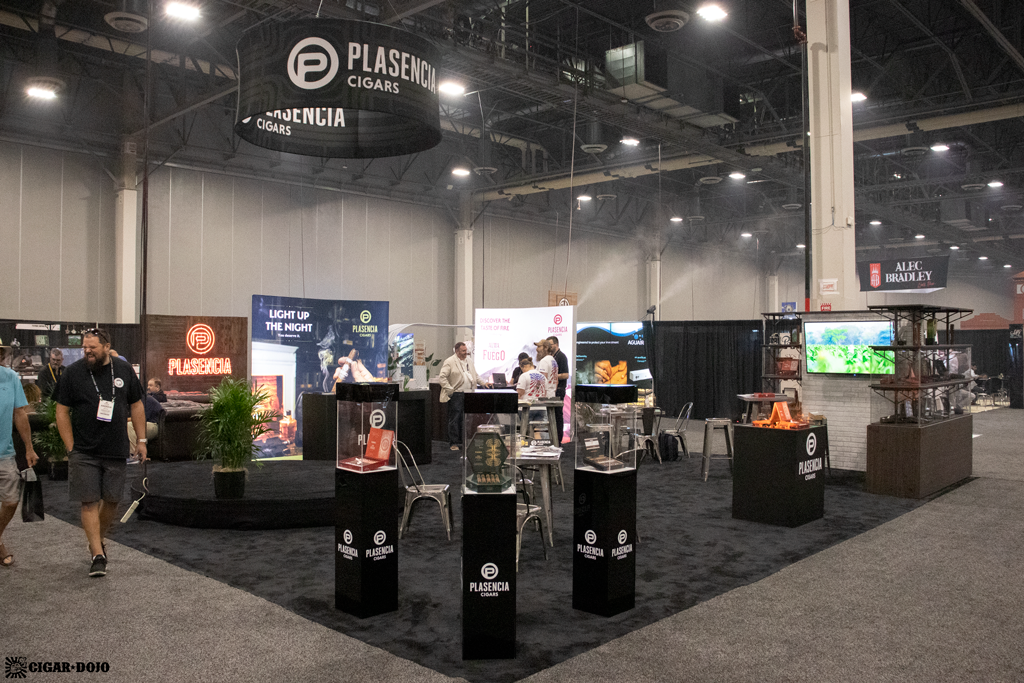 Plasencia Cigars booth PCA 2021