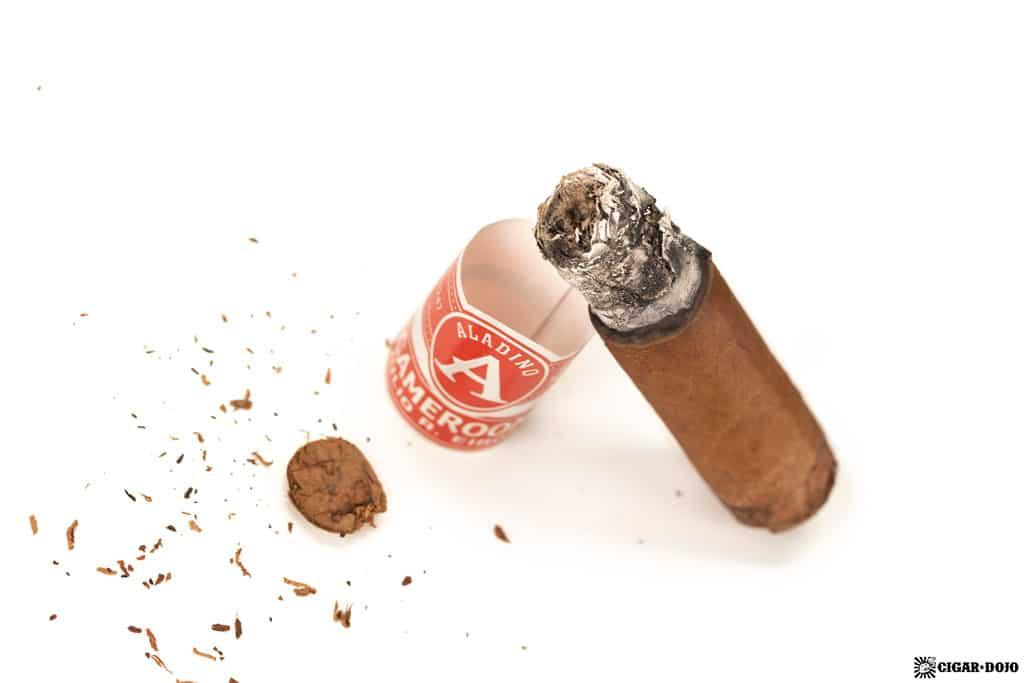 Aladino Cameroon Lonsdale cigar nub finished