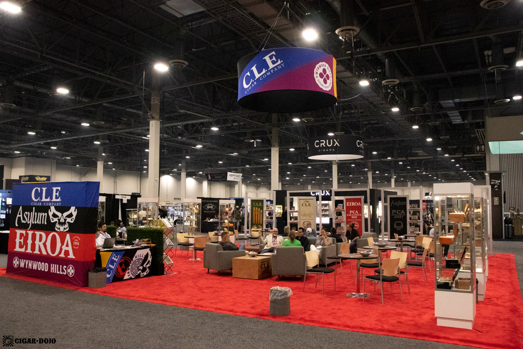 CLE Cigars booth PCA 2021