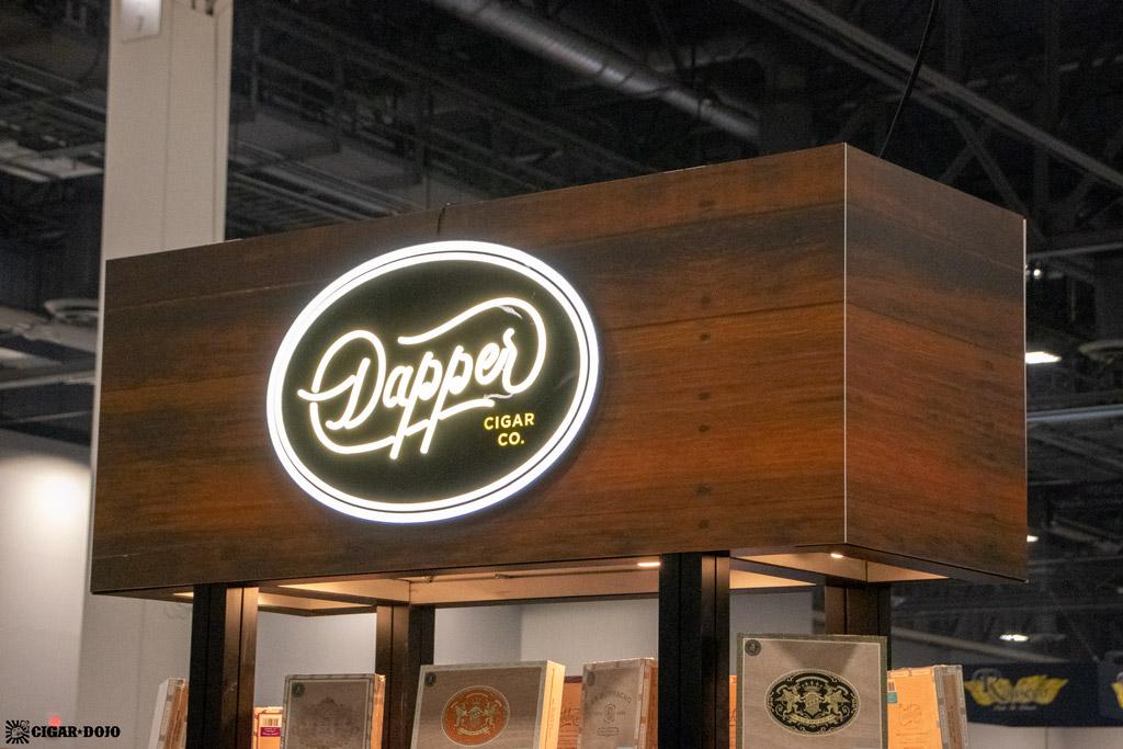 Dapper Cigar Co. booth sign PCA 2021