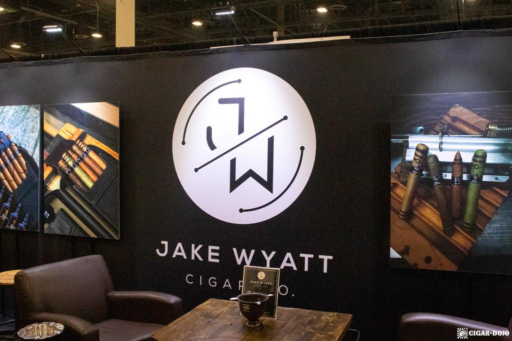 Jake Wyatt Cigar Co. booth sign PCA 2021