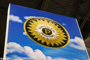 Perdomo Cigars booth sign PCA 2021