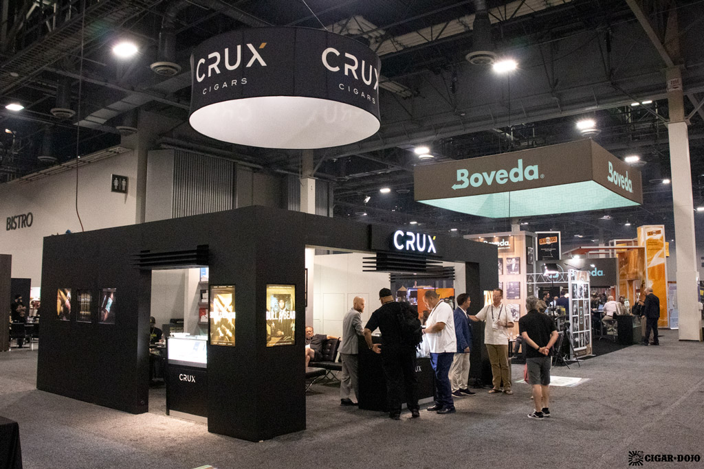 Crux Cigars booth PCA 2021