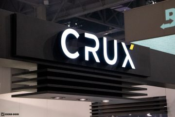 Crux Cigars booth sign PCA 2021